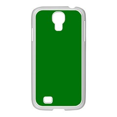 Solid Christmas Green Velvet Classic Colors Samsung Galaxy S4 I9500/ I9505 Case (white) by PodArtist