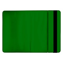 Solid Christmas Green Velvet Classic Colors Samsung Galaxy Tab Pro 12 2  Flip Case by PodArtist