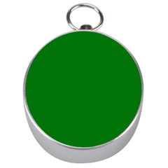 Solid Christmas Green Velvet Classic Colors Silver Compasses by PodArtist