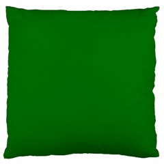 Solid Christmas Green Velvet Classic Colors Large Flano Cushion Case (two Sides) by PodArtist