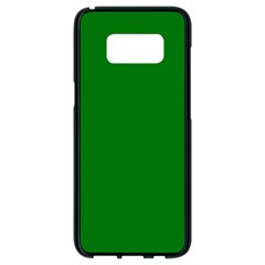 Solid Christmas Green Velvet Classic Colors Samsung Galaxy S8 Black Seamless Case by PodArtist