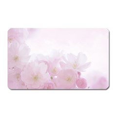 Pink Blossom Bloom Spring Romantic Magnet (rectangular) by BangZart