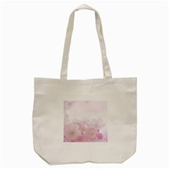 Pink Blossom Bloom Spring Romantic Tote Bag (cream) by BangZart