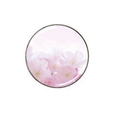 Pink Blossom Bloom Spring Romantic Hat Clip Ball Marker (10 Pack) by BangZart
