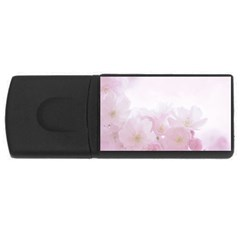 Pink Blossom Bloom Spring Romantic Usb Flash Drive Rectangular (4 Gb) by BangZart