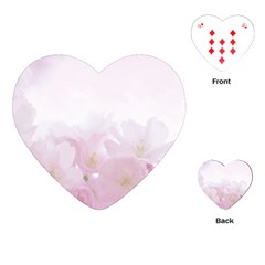 Pink Blossom Bloom Spring Romantic Playing Cards (heart)  by BangZart