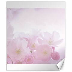 Pink Blossom Bloom Spring Romantic Canvas 8  X 10  by BangZart