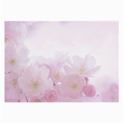 Pink Blossom Bloom Spring Romantic Large Glasses Cloth