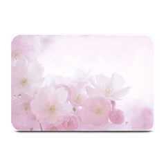 Pink Blossom Bloom Spring Romantic Plate Mats by BangZart