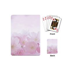 Pink Blossom Bloom Spring Romantic Playing Cards (mini)