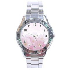 Pink Blossom Bloom Spring Romantic Stainless Steel Analogue Watch by BangZart