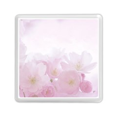 Pink Blossom Bloom Spring Romantic Memory Card Reader (square)