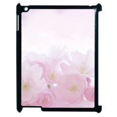 Pink Blossom Bloom Spring Romantic Apple Ipad 2 Case (black) by BangZart
