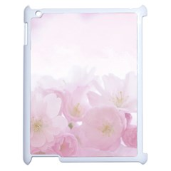Pink Blossom Bloom Spring Romantic Apple Ipad 2 Case (white) by BangZart
