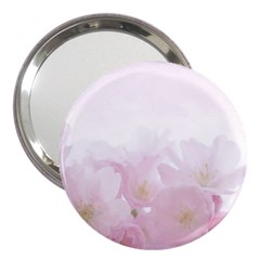 Pink Blossom Bloom Spring Romantic 3  Handbag Mirrors by BangZart