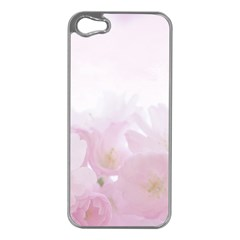 Pink Blossom Bloom Spring Romantic Apple Iphone 5 Case (silver) by BangZart