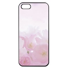 Pink Blossom Bloom Spring Romantic Apple Iphone 5 Seamless Case (black)