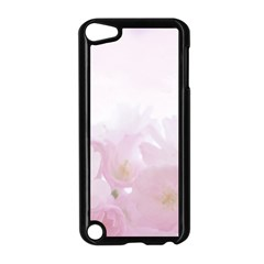 Pink Blossom Bloom Spring Romantic Apple Ipod Touch 5 Case (black)