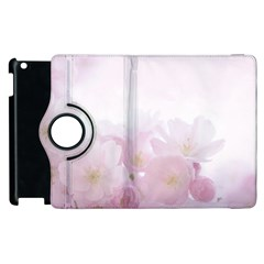 Pink Blossom Bloom Spring Romantic Apple Ipad 2 Flip 360 Case by BangZart