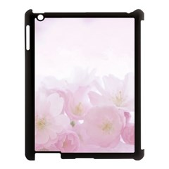 Pink Blossom Bloom Spring Romantic Apple Ipad 3/4 Case (black)