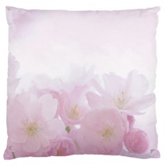 Pink Blossom Bloom Spring Romantic Large Flano Cushion Case (one Side) by BangZart