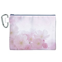 Pink Blossom Bloom Spring Romantic Canvas Cosmetic Bag (xl) by BangZart