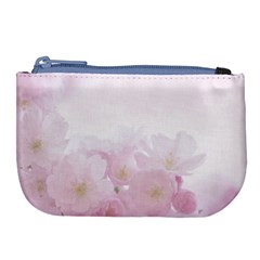 Pink Blossom Bloom Spring Romantic Large Coin Purse by BangZart