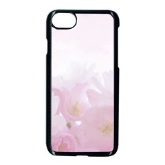 Pink Blossom Bloom Spring Romantic Apple Iphone 7 Seamless Case (black) by BangZart