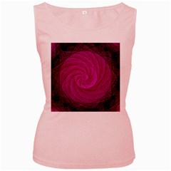 Purple Background Scrapbooking Abstract Women s Pink Tank Top