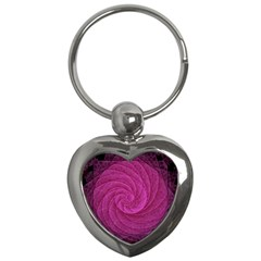 Purple Background Scrapbooking Abstract Key Chains (heart)