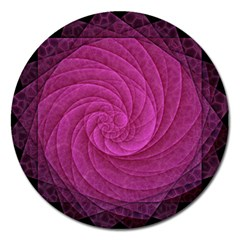 Purple Background Scrapbooking Abstract Magnet 5  (round) by BangZart