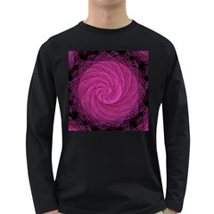 Purple Background Scrapbooking Abstract Long Sleeve Dark T Shirts