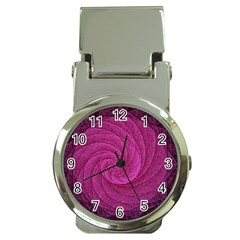 Purple Background Scrapbooking Abstract Money Clip Watches by BangZart