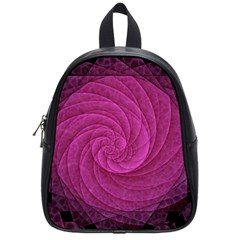 Purple Background Scrapbooking Abstract School Bags (small)  by BangZart