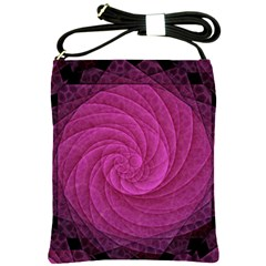 Purple Background Scrapbooking Abstract Shoulder Sling Bags by BangZart