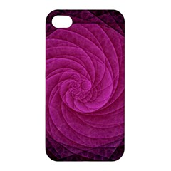 Purple Background Scrapbooking Abstract Apple Iphone 4/4s Premium Hardshell Case by BangZart