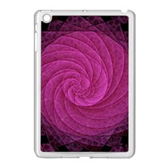 Purple Background Scrapbooking Abstract Apple Ipad Mini Case (white) by BangZart