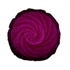 Purple Background Scrapbooking Abstract Standard 15  Premium Round Cushions