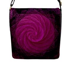Purple Background Scrapbooking Abstract Flap Messenger Bag (l)