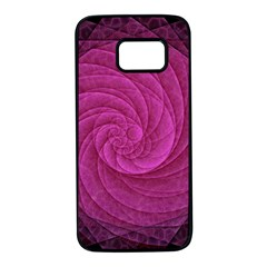 Purple Background Scrapbooking Abstract Samsung Galaxy S7 Black Seamless Case