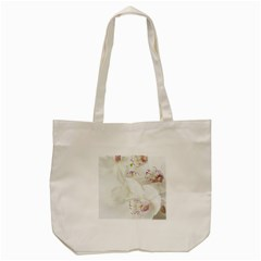 Orchids Flowers White Background Tote Bag (cream) by BangZart