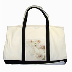 Orchids Flowers White Background Two Tone Tote Bag by BangZart