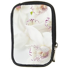 Orchids Flowers White Background Compact Camera Cases by BangZart
