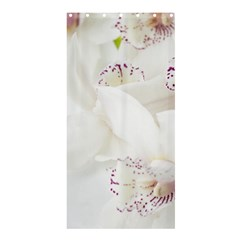 Orchids Flowers White Background Shower Curtain 36  X 72  (stall)  by BangZart
