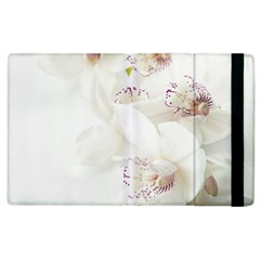 Orchids Flowers White Background Apple Ipad 3/4 Flip Case by BangZart