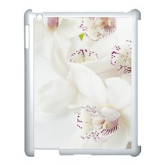 Orchids Flowers White Background Apple Ipad 3/4 Case (white) by BangZart
