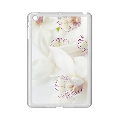 Orchids Flowers White Background Ipad Mini 2 Enamel Coated Cases by BangZart