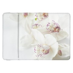 Orchids Flowers White Background Samsung Galaxy Tab 8 9  P7300 Flip Case