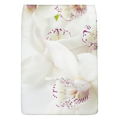 Orchids Flowers White Background Flap Covers (s)  by BangZart