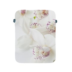 Orchids Flowers White Background Apple Ipad 2/3/4 Protective Soft Cases by BangZart